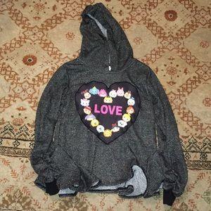 Disney Love glitter black sweatshirt